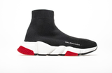 Balenciaga Sock Women's Shoes White Red Baskets Speed