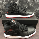 Air Jordan Black and Red Leather