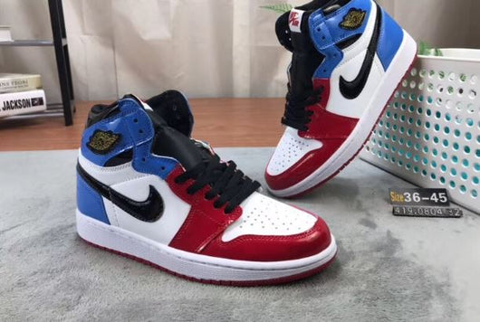 Air Jordan 1 Mid Fearless Red Blue - BH Sport