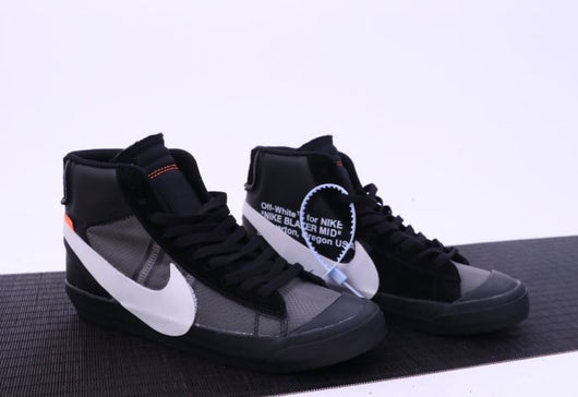 Nike Blazer Mid Black and Grey OFF-WHITE Beaverton Oregon USA - BH Sport