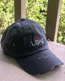 'LOVE' Distressed Hat