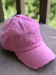 'SELF LOVE' Distressed Hat