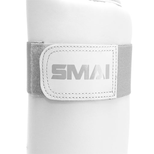 White Karate Shin and Instep Guard