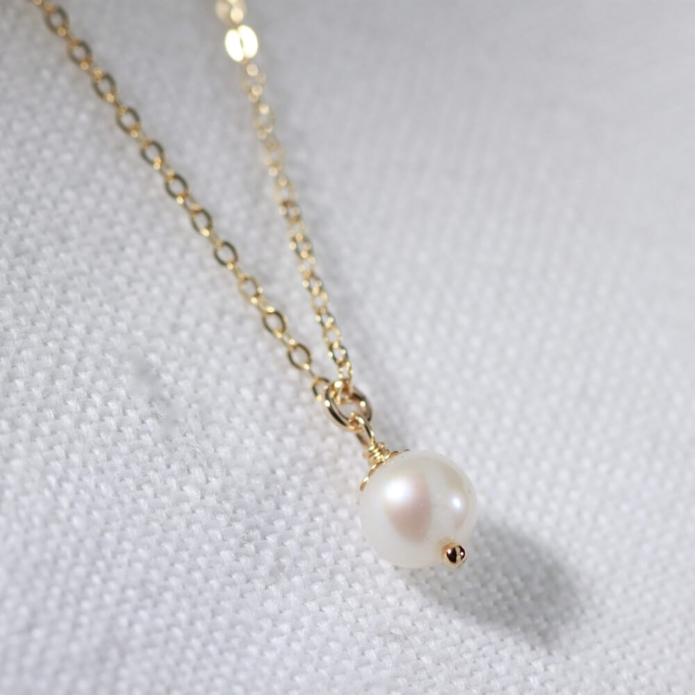 Freshwater Petit Pearl Necklace in 14kt gold filled
