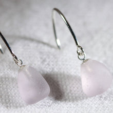 Load image into Gallery viewer, Simple Silver Ear Wire Sea Glass Earrings