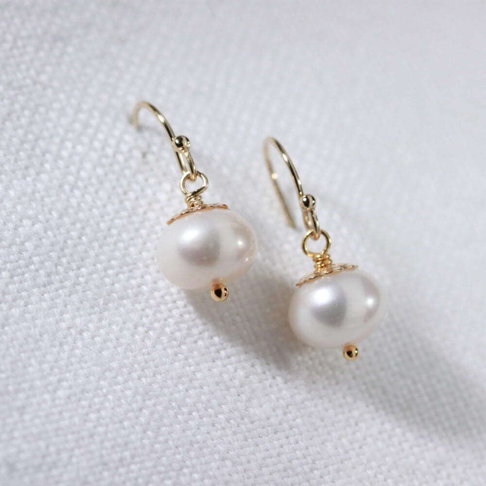 Freshwater Pearl Earrings in 14kt gold filled