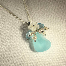 Load image into Gallery viewer, Small Bouquet Sea Glass Necklace