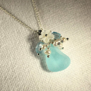 Small Bouquet Sea Glass Necklace