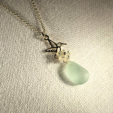 Load image into Gallery viewer, Hummingbird Sea Glass Necklace