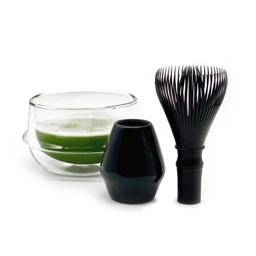 Matchado Black Resin Whisk (with whisk holder)