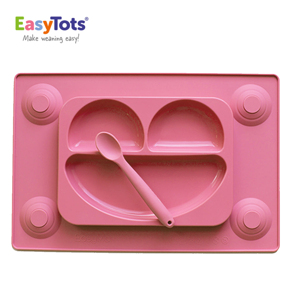 EasyTots EasyMat Original: Toddler Suction Placemat & Spoon