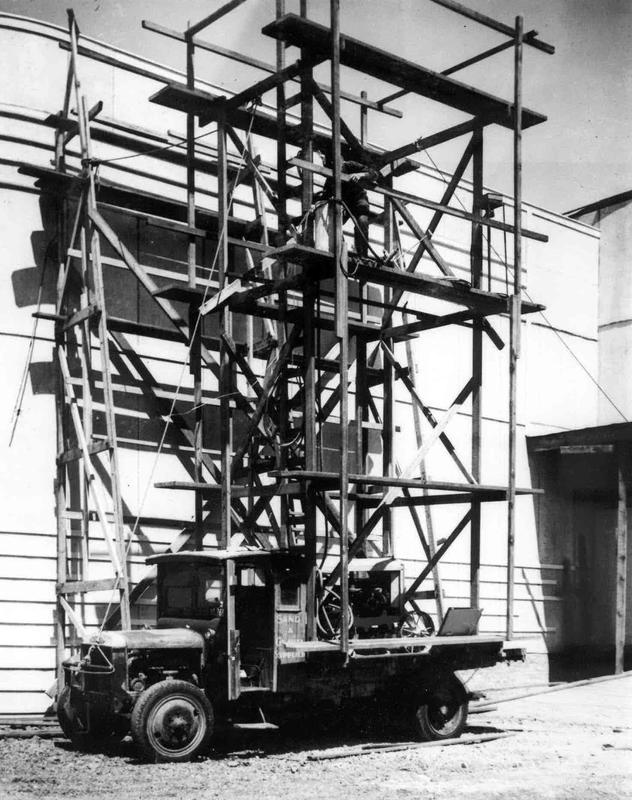 Fletchers Truck and Mobile Scaffolding for the NZ Centennial Expo 1939