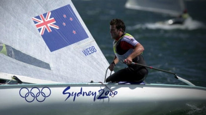 Clifton Webb competing for New Zealand in the 2000 Sydney Olympics