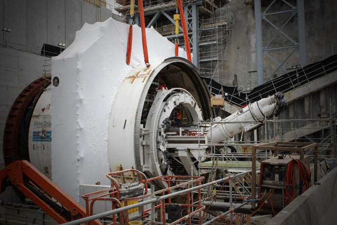 Alice the Tunnel Boring Machine (TBM) at the Wateview Connection Tunnel