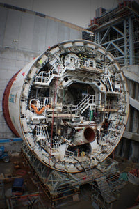 Alice the Tunnel Boring Machine (TBM) under construction at the Wateview Connection Tunnel
