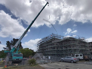 Keder Roof being craned into position