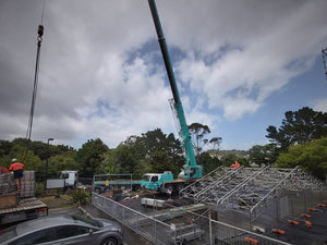 Keder Roof preparing for crane lift into position