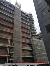 Load image into Gallery viewer, Scaffolding Edge Protection and Scaffolding Stair Access at Union & Co Apartments