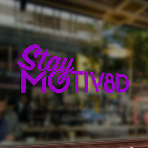 Stay MOTIV8D Decal (Purple)