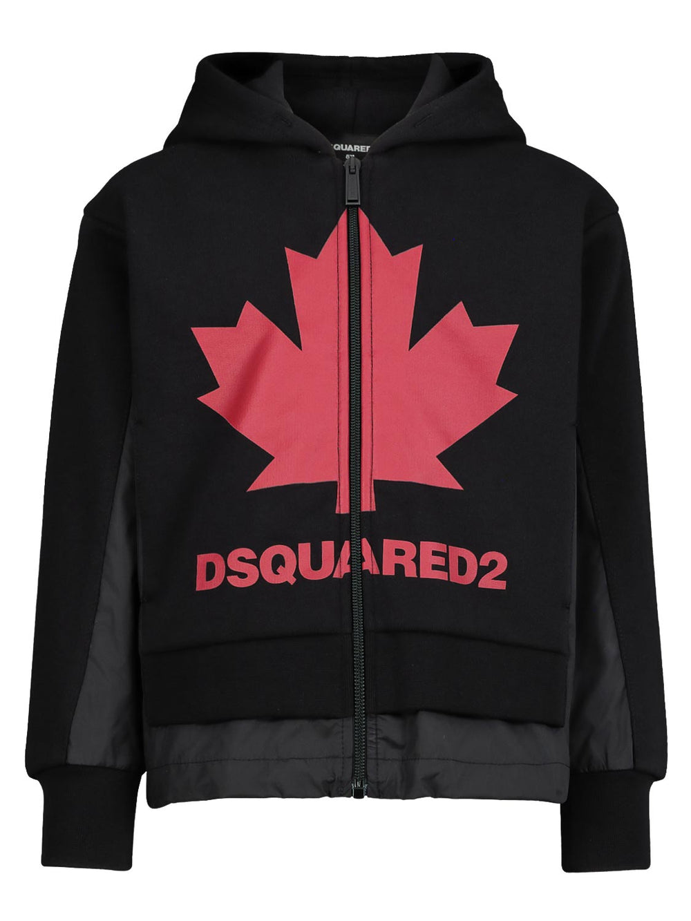 DSQUARED2 Black Jacket With Hoodie