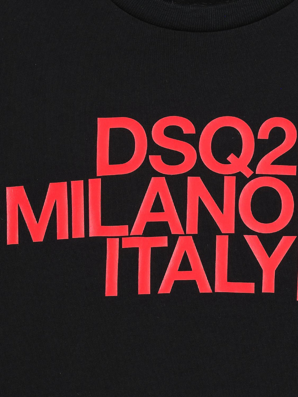 DSQUARED2 Black T-shirt With Red Logo