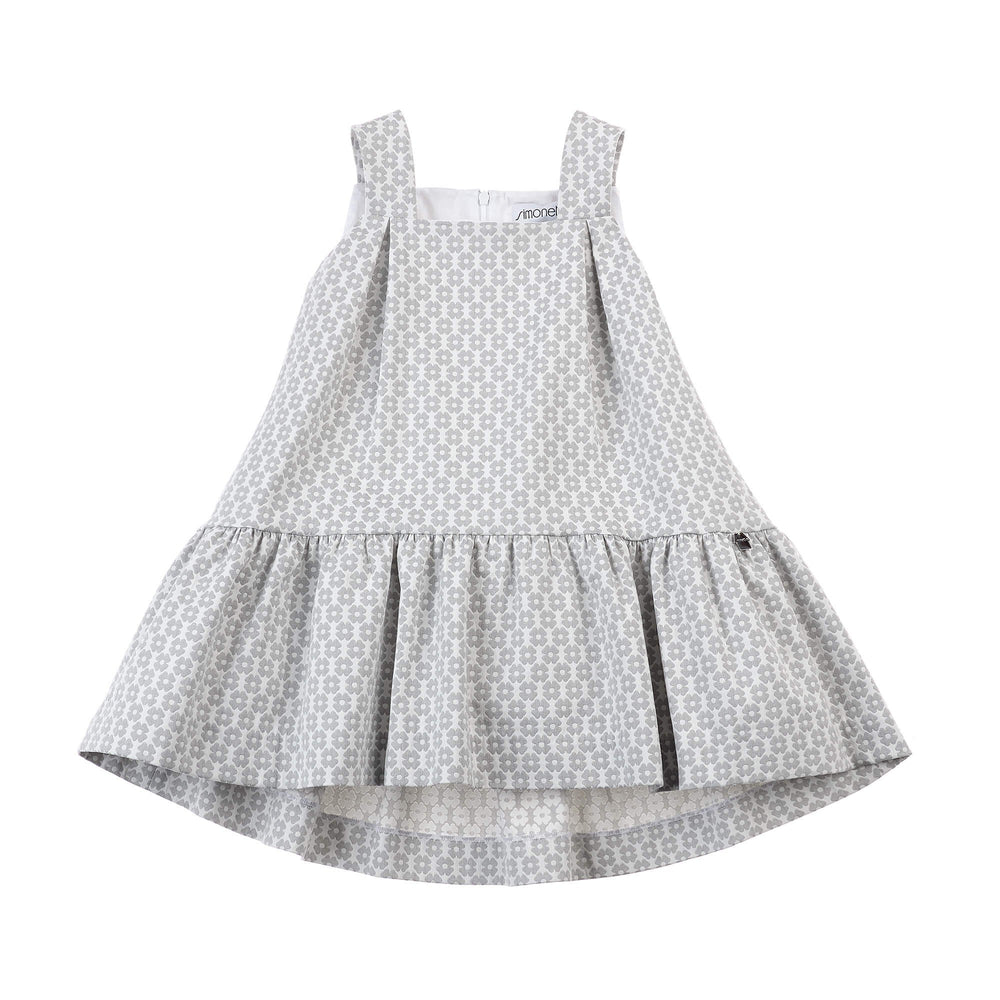 SIMONETTA Jacquard Dress With Flower Print