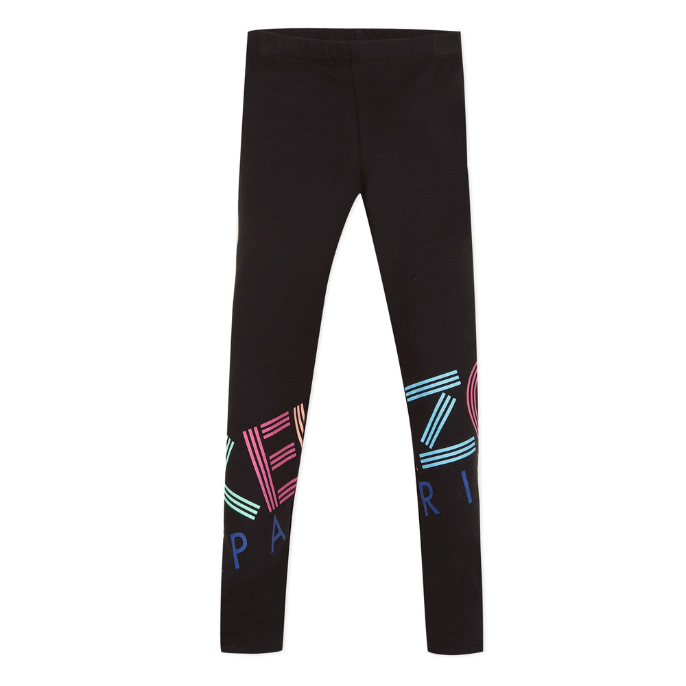KENZO Logo Print Cotton Leggings