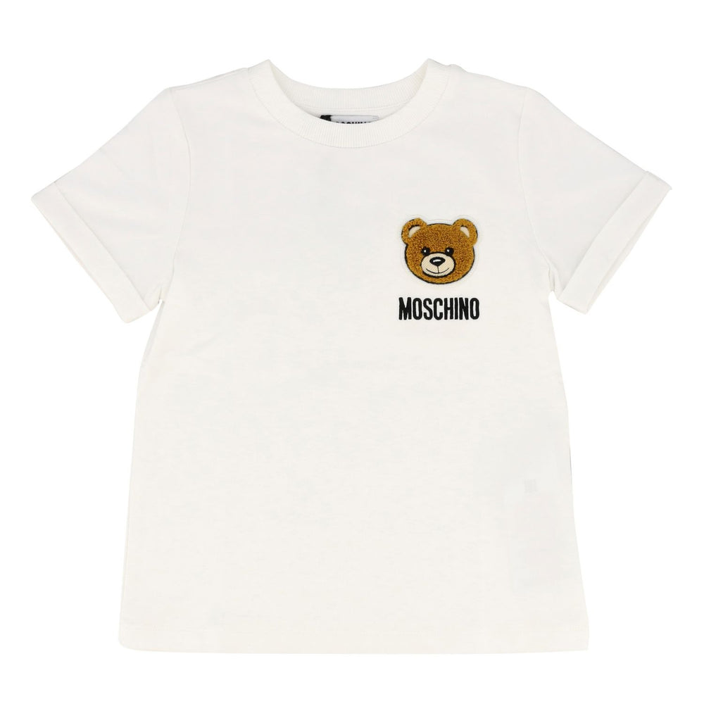 MOSCHINO Classical White T-Shirt With Bear Logo