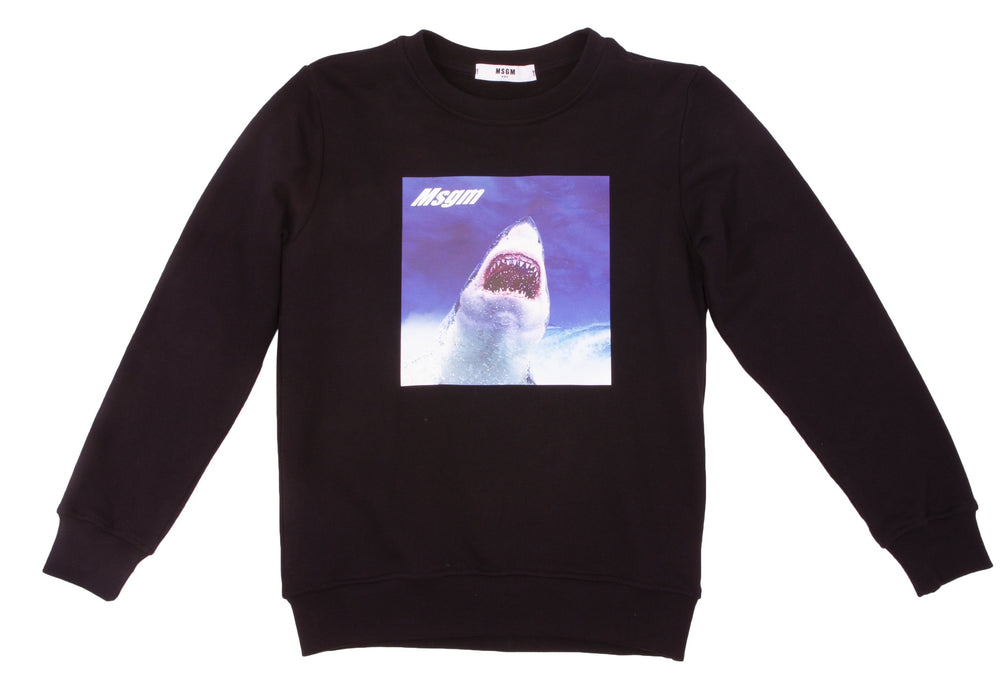 MSGM Black Shark Sweatshirt