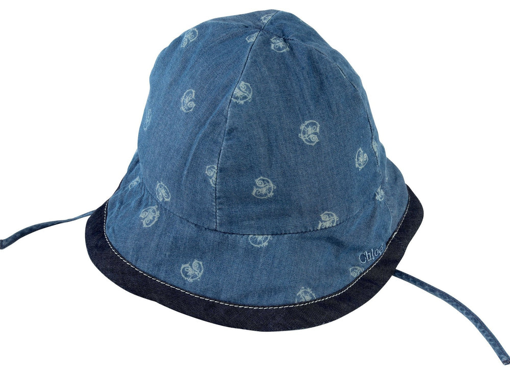 CHLOÉ Blue Denim Baby Hat