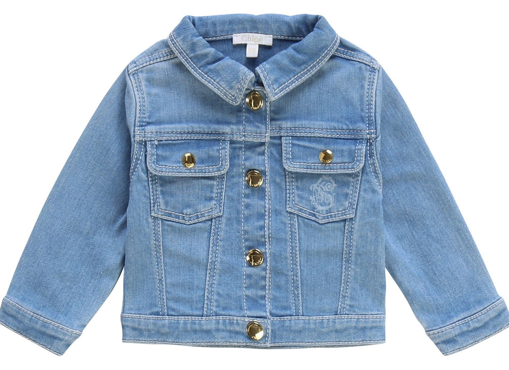 CHLOÉ Denim Jacket For Babies