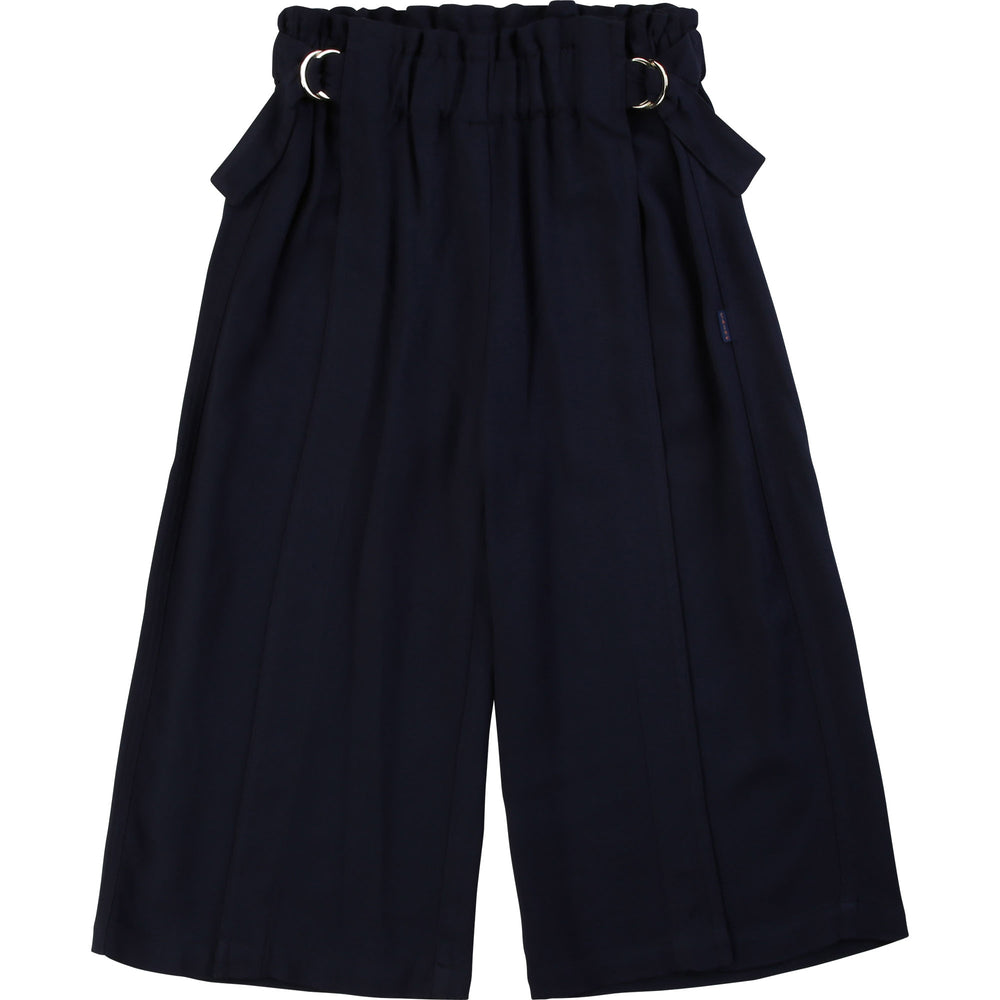 CHLOE Navy Trousers with Elastic Waistline