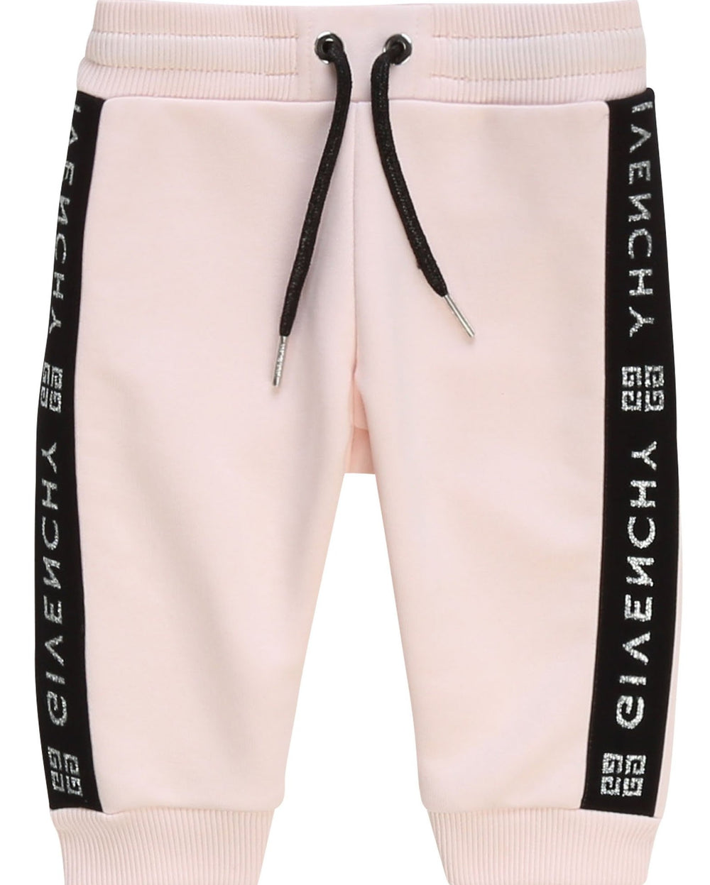 GIVENCHY Pink Logo Print Baby Tracksuit Pants