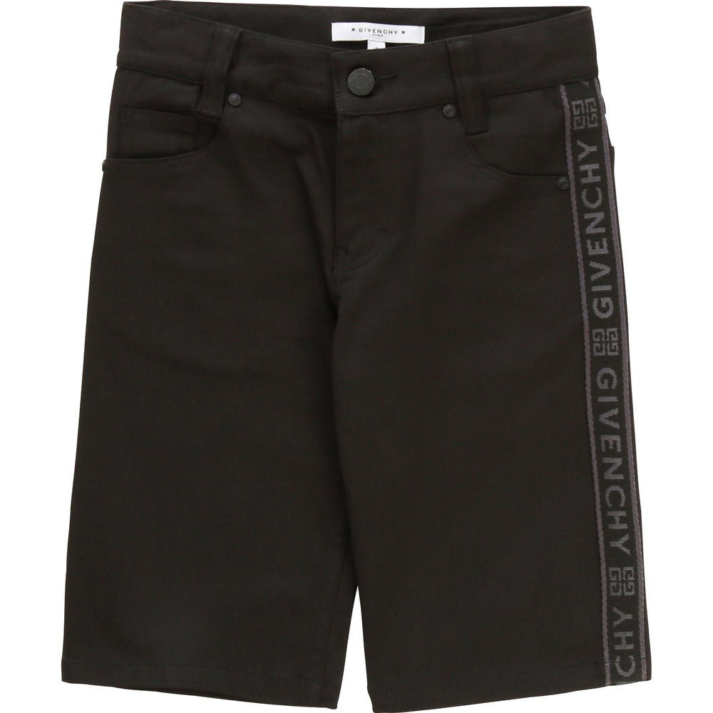 GIVENCHY Black Shorts with Logo