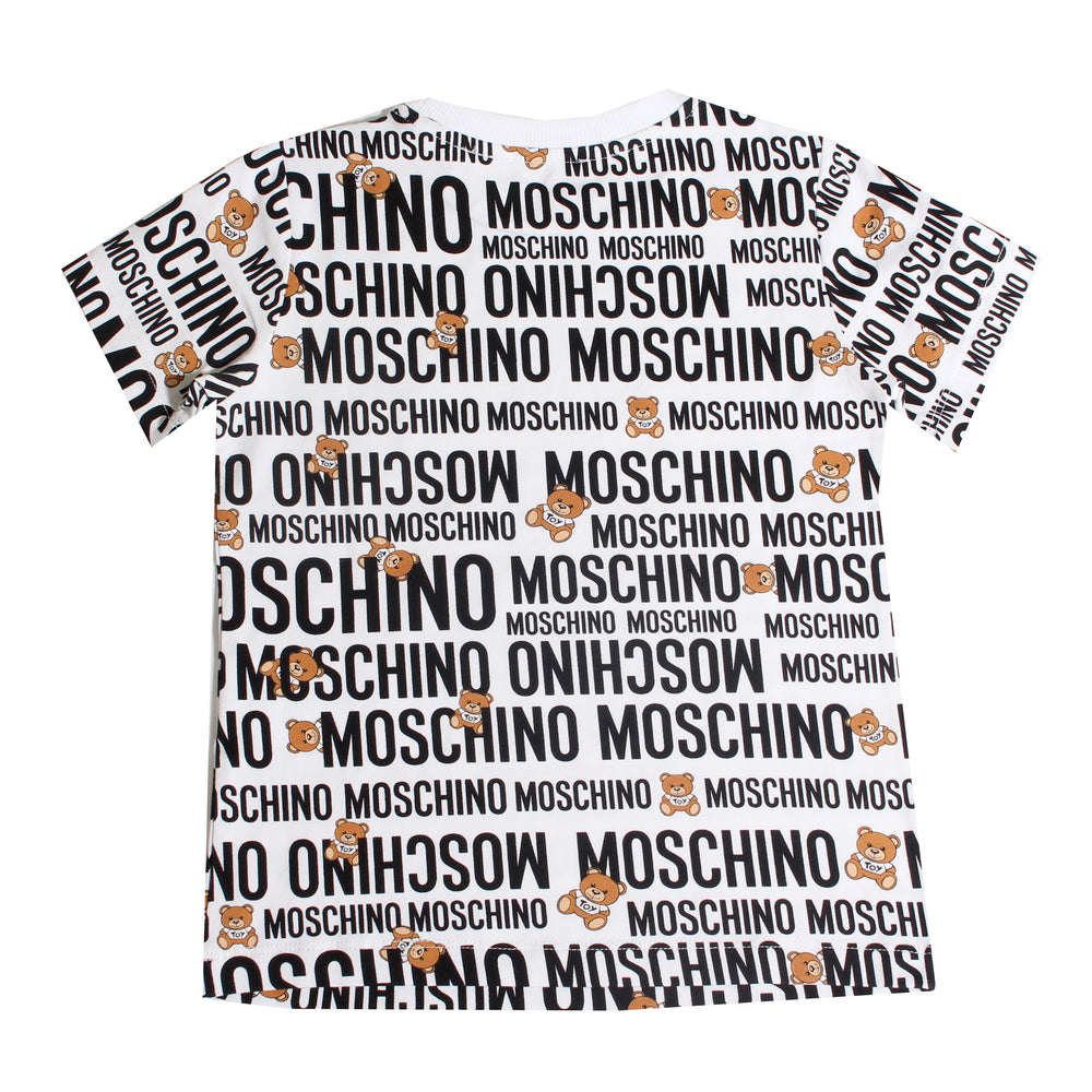 MOSCHINO T-Shirt With Logo Pattern