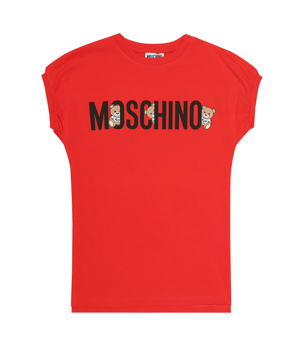 MOSCHINO Red Shirt Dress with Logo