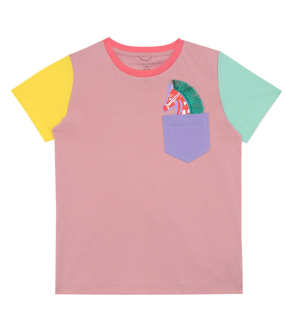 STELLA McCARTNEY KIDS Multicolored T-shirt With Horse