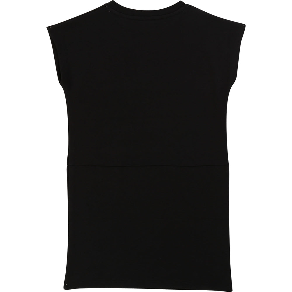 KARL LAGERFELD Black Logo Sweatshirt Dress