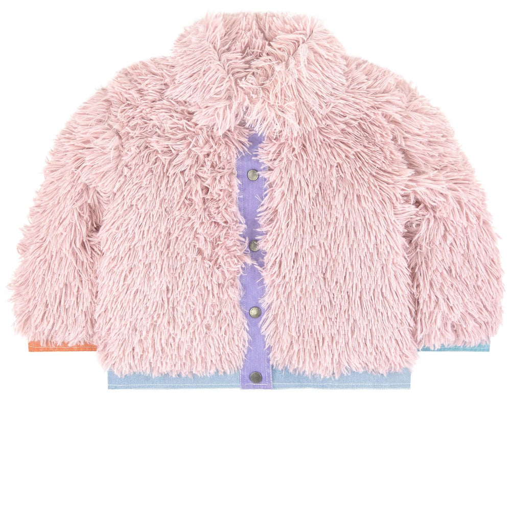 STELLA McCARTNEY KIDS Light Pink Fake Fur Jacket