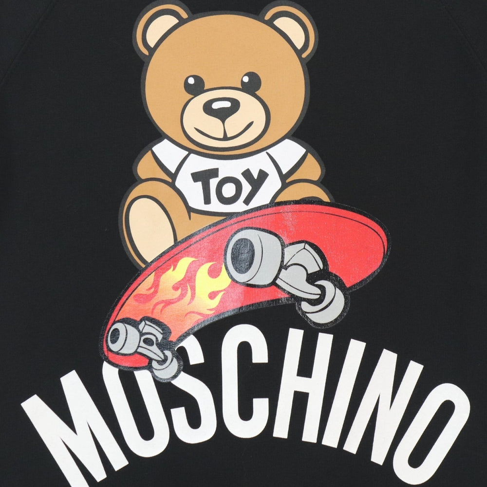 MOSCHINO Black Oversized Dress With Bear Logo