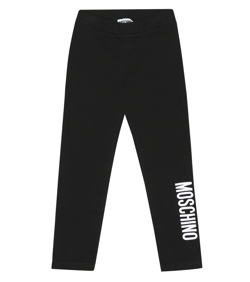 MOSCHINO Black Leggings With Logo