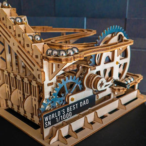 Extension kit SPECIAL STEEL EDITION for marble run Roller Coaster (gears & plate)