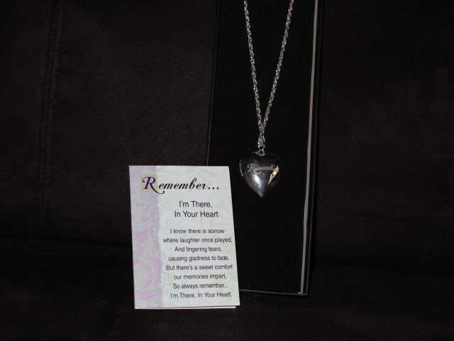 Memorial Heart Locket & Card