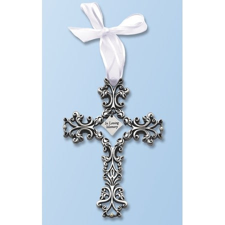 Pewter Filigree Memorial Cross