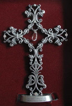 Teardrop Filigree Cross - Catholic Gifts Canada