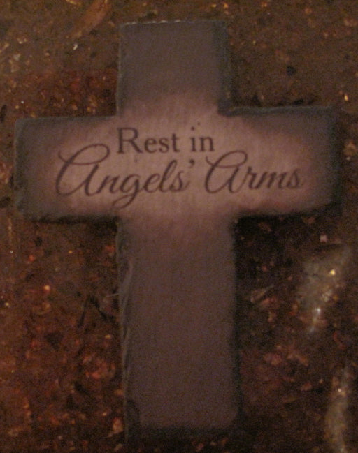 Rest in Angel's Arms Cross Stake