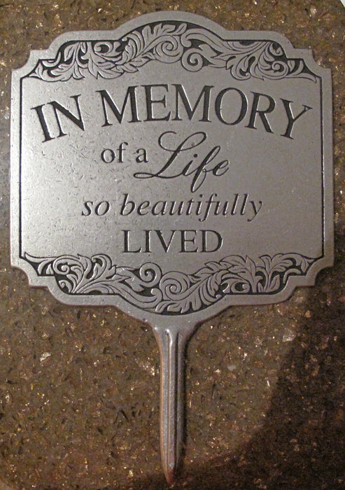 A Life Beautifully Lived Plaque