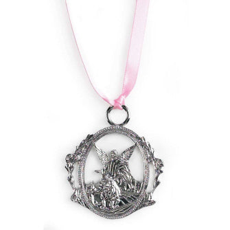 Metal Crib Medal - Girl - Catholic Gifts Canada