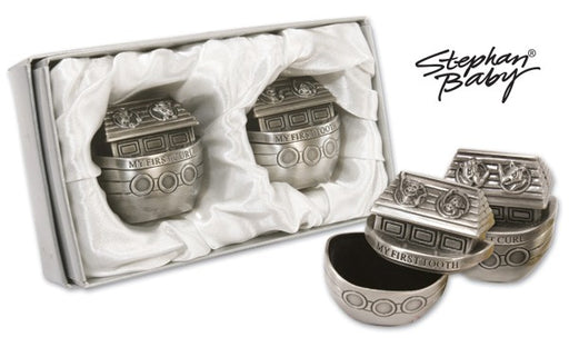 Pewter Noah's Ark Tooth & Curl Set