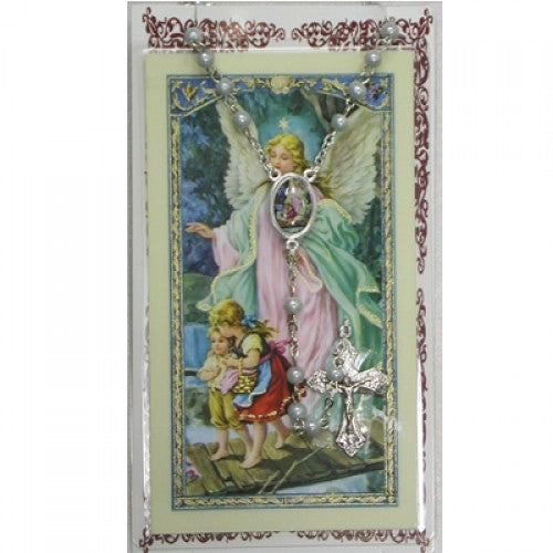 Guardian Angel Rosary & Prayer Card